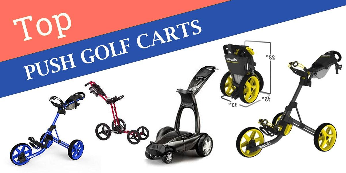 top golf push carts
