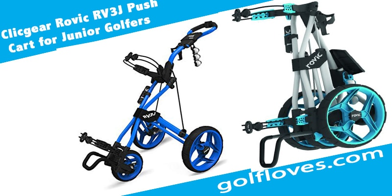 Clicgear Rovic RV3J Push Cart for Junior Golfers