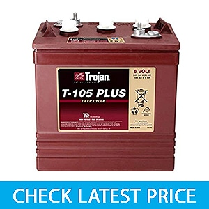 TROJAN T-105 PLUS 6V Deep Cycle Flooded Battery